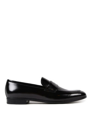 Prada: Loafers & Slippers - Polished leather loafers