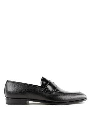 PRADA: Mocassini e slippers - Mocassini in Saffiano e vitello spazzolato