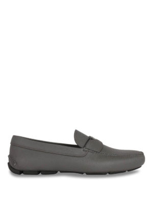 Prada: Loafers & Slippers - Saffiano leather driver loafers