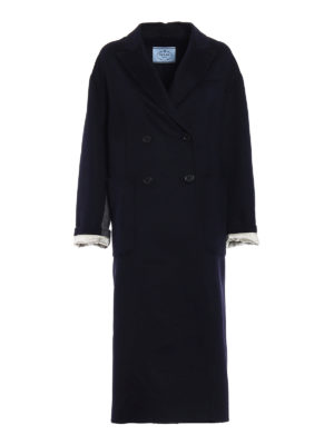 Prada: long coats - Cashgora long double-breasted coat