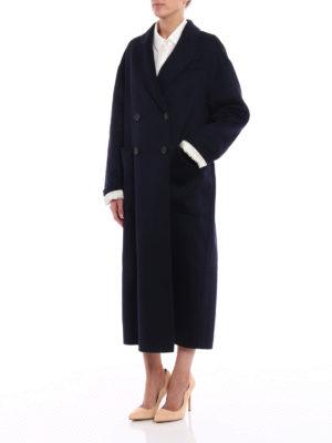 Prada: long coats online - Cashgora long double-breasted coat