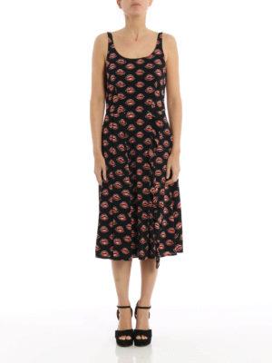 Prada: maxi dresses online - Kiss print sablé sleeveless dress