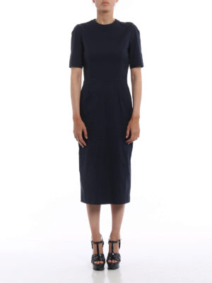 Prada: maxi dresses online - Stretch poplin long sheath dress