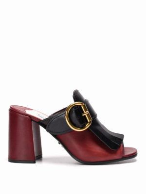 Prada: mules shoes - Fringed leather mules