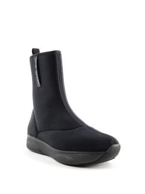 PRADA: tronchetti online - Tronchetti stile sneaker in neoprene