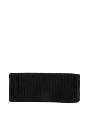 PRADA: berretti online - Berretto nero in lana con logo