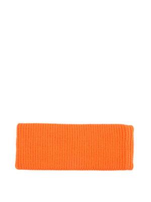 PRADA: berretti online - Berretto arancio in lana con logo