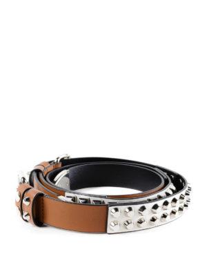 PRADA: cinture online - Cintura color block con borchie