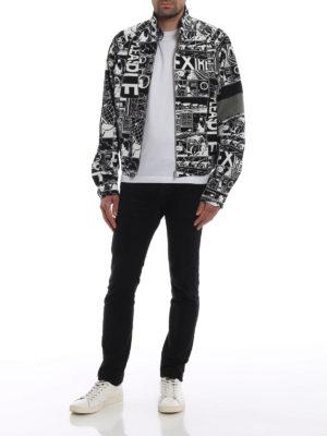 PRADA: giacche casual online - Giubbotto in cotone stampa Comics