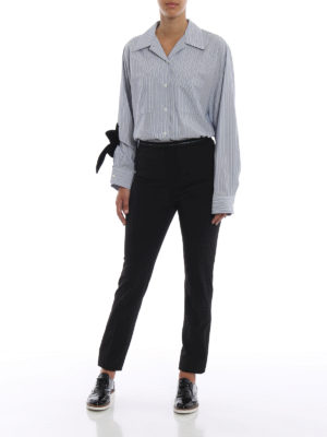 PRADA: pantaloni casual online - Pantaloni in tessuto tecnico stretch