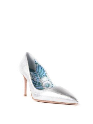 PRADA: scarpe décolleté online - Décolleté in pelle argento