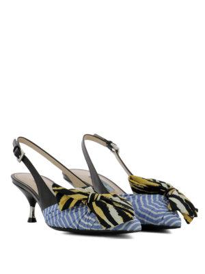 PRADA: scarpe décolleté online - Décolleté slingback a righe