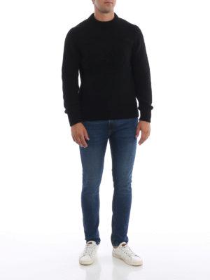 PRADA: maglia collo rotondo online - Girocollo nero in lana e cashmere