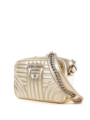 PRADA: borse a tracolla online - Tracolla Diagramme soft color oro