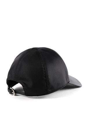 PRADA: cappelli online - Cappello da baseball in nylon nero