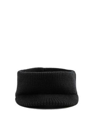 PRADA: cappelli online - Fascetta in maglia di lana con visiera