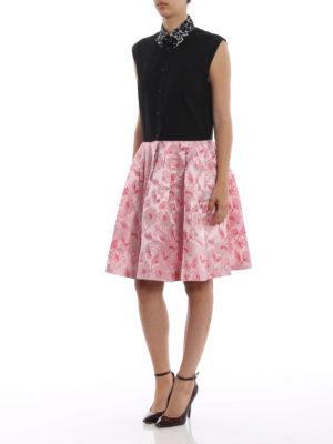 PRADA: abiti al ginocchio online - Abito svasato in cotone e broccato