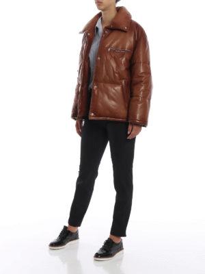 PRADA: giacche imbottite online - Giacca in nappa cerata imbottita