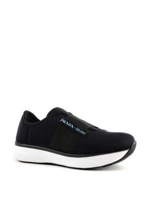 PRADA: sneakers online - Slip-on in neoprene con fascia elastica