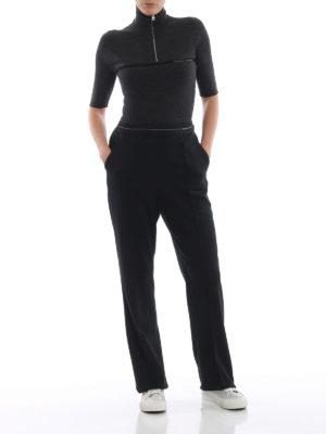 PRADA: maglia a collo alto e polo online - Pull a manica corta in lana seta a costina