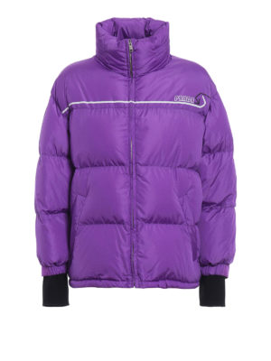 PRADA: giacche imbottite - Piumino trapuntato in nylon viola brillante