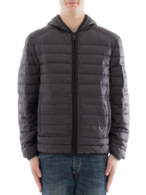 Prada: padded jackets online - Down padded hooded jacket