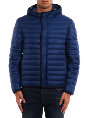 Prada: padded jackets online - Pelleovo ultralight hooded jacket