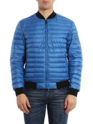 Prada: padded jackets online - Quilted and padded bomber