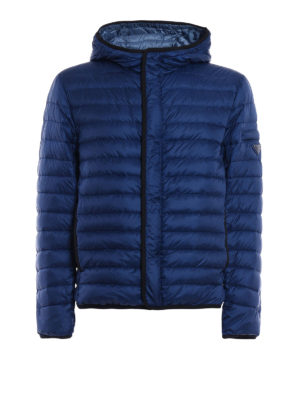 Prada: padded jackets - Pelleovo ultralight hooded jacket