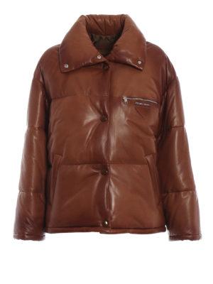 PRADA: giacche imbottite - Giacca in nappa cerata imbottita