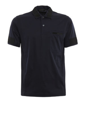 Prada: polo shirts - Grosgrain detailed polo shirt