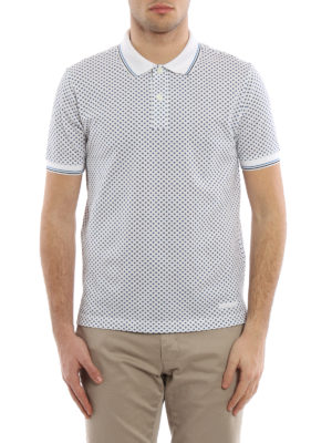 Prada: polo shirts online - Piquet Stars pattern polo