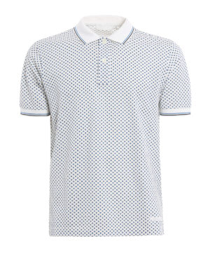 Prada: polo shirts - Piquet Stars pattern polo