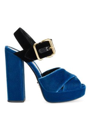 Prada: sandals - Bicolour velvet sandals
