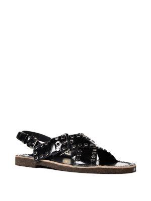 Prada: sandals online - Woven leather sandals
