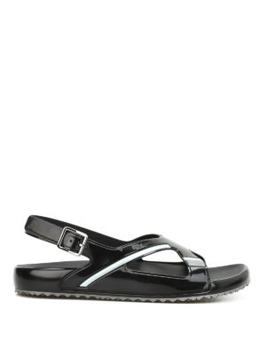 Prada: sandals - Rubber sandals