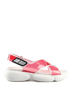 a3f8babea34 PRADA  sandali - Sandali trasparenti con fasce incrociate. New season.  Prada. Transparent crisscross pvc sandals