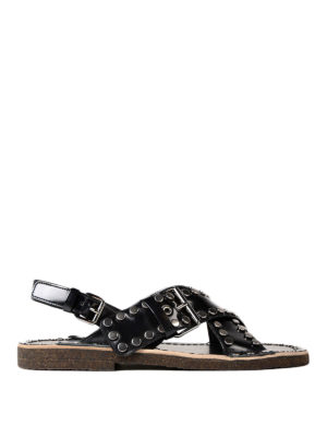 Prada: sandals - Woven leather sandals