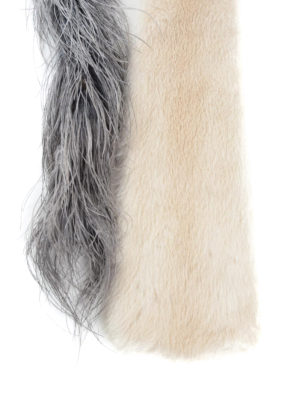 Prada: scarves online - Mink and feathers stole