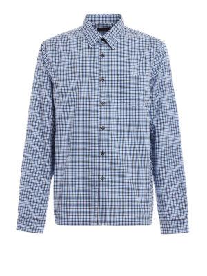 Prada: shirts - Chequered cotton shirt