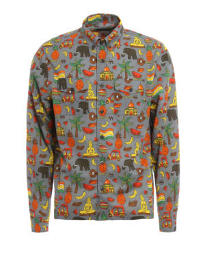 Prada: shirts - Exotic print cotton shirt