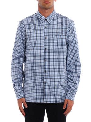 Prada: shirts online - Chequered cotton shirt
