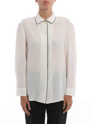 Prada: shirts online - Contrasting trimmed silk shirt