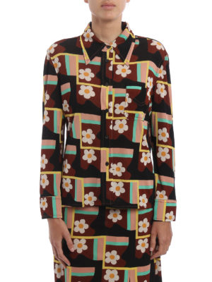 Prada: shirts online - Patterned jersey shirt