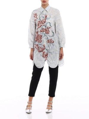 Prada: shirts online - Poplin compact cotton long shirt