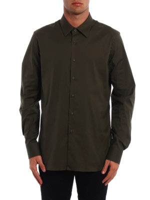 Prada: shirts online - Stretch poplin shirt