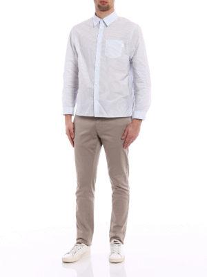 Prada: shirts online - Striped techno shirt