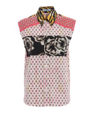 PRADA: camicie - Camicia patchwork in cotone