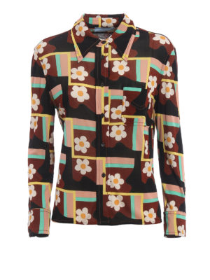 Prada: shirts - Patterned jersey shirt