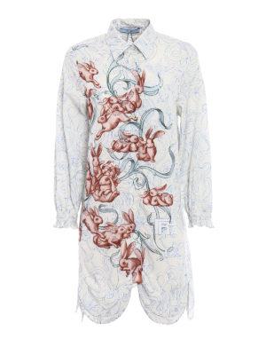 Prada: shirts - Poplin compact cotton long shirt